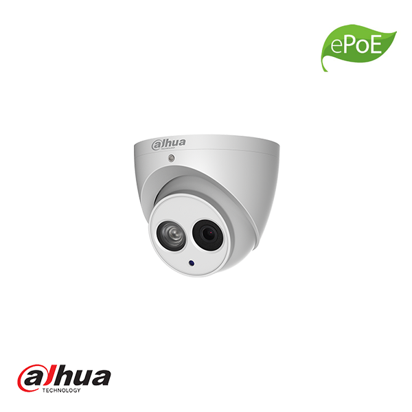 DAHUA 4MP IR EYEBALL NETWORK CAMERA, MIC, 2.8MM, EPOE - Security Noord Nieuwenhuis