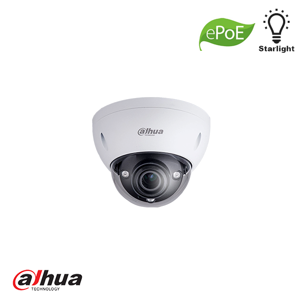 DAHUA 2MP STARLIGHT IR DOME CAMERA 2.7-13.5MM MOTORZOOM EPOE Security Noord Nieuwenhuis